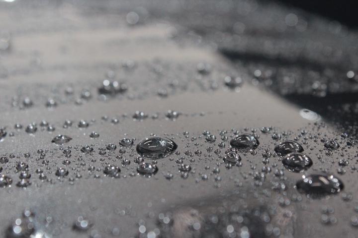 ボンネットの撥水状態