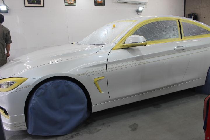 BMWアルピナのボディコーティング風景